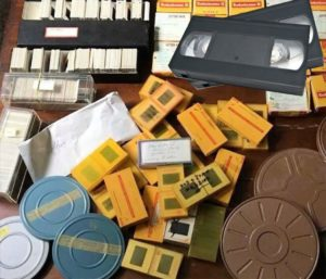 VHS tapes, photos, slides for conversion