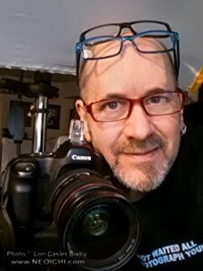 Man wearing glasses with camera